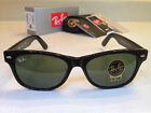 Ray Ban RB 2132 901 New Wayfarer Sunglasses Green Lenses Black Frame 55MM
