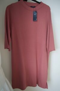 MARKS-AND-SPENCER-PINK-TUNIC-SOFT-TOUCH-Jersey-Knit-DRESS-SIZE-18-NEW-AUTHENTIC