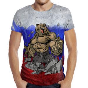 President Shirt Woman Tricolor Russia Bear Russian Xs Man T 3d Putin ywOvmN8n0