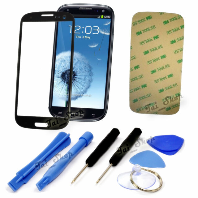ae356e501a1062 Replacement Screen Glass Lens+Tool Kit For Samsung Galaxy S3 i9300 I747 T999