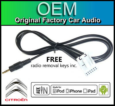 Citroen C4 Picasso AUX lead, RD4 car stereo AUX in cable iPod iPhone  Android | eBay