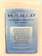 Silver, Gold, & Platinum Jewelry Cleaning and Polishing Cloth - Two-Cloth System