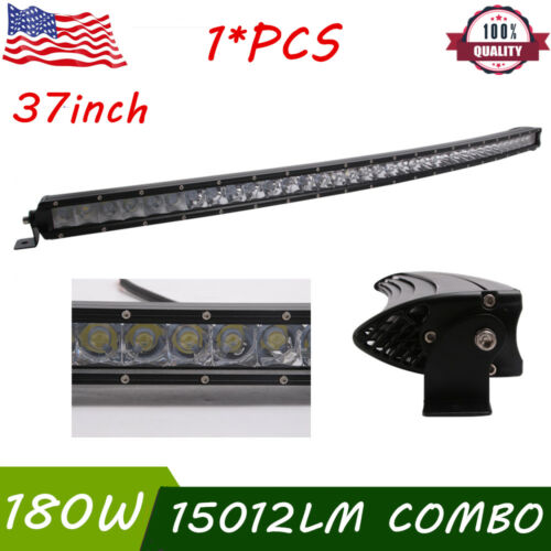 """37/""""inch 180W CURVED LED Light Bar Single Row Combo Driving Fog Lamp Boat Truck"""