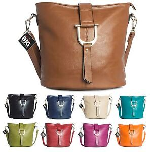 Image is loading Big-Handbag-Shop-Womens-Faux-Leather-Bucket-Style- d13538c7cb