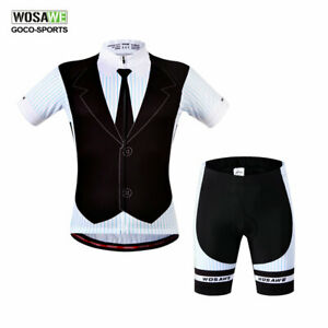 Men-039-s-Cycling-kit-Short-sleeve-jerseys-shorts-set-Bike-clothing-Bicycle-padded