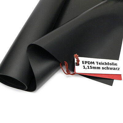 Firestone EPDM Kautschuk Teichfolie 1,15mm Rollenbreite 7,62 m Länge auswählbar