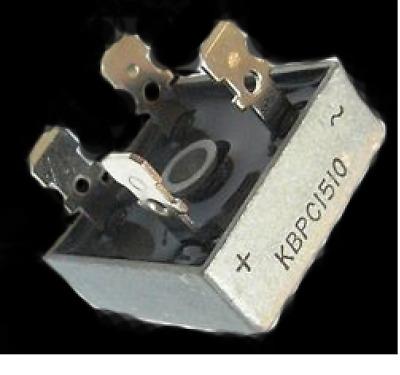 2x Einphasig Brückengleichrichter KBPC1510 15A 1000V Diodenbrücke