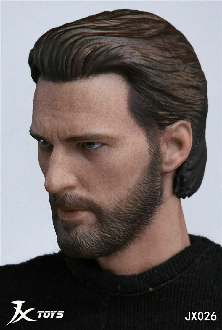 1 6 Chris Evans Captain America Head Head Head Sculpt For Hot Toys Worldbox Figure ❶USA❶ 41b768