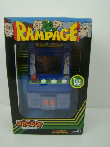 RAMPAGE Arcade Classics Mini Arcade-Style Game NEW with batteries