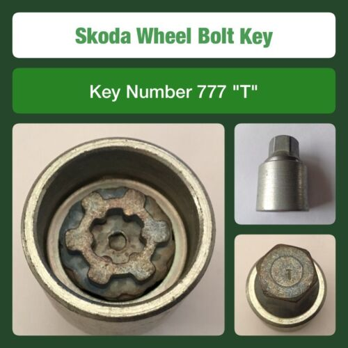 "Genuine Skoda Locking Wheel Bolt Nut Key 777 /""T/"""