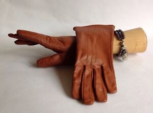 Winter-Gloves-Leather-Whisky-Tan-With-Soft-Fabric-Lining-Size-6-5