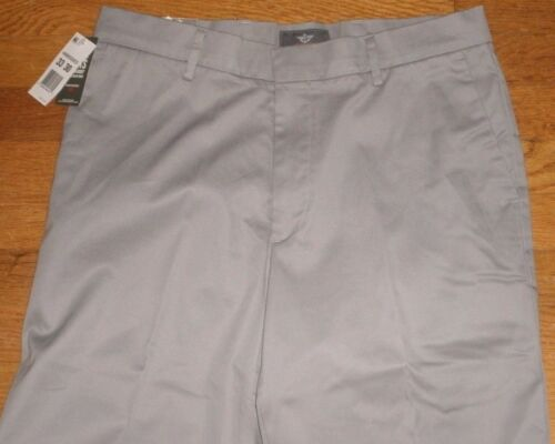Dockers Iron Free Khaki Dress Pants Classic Fit D3 Flat Flex Comfort Gray New