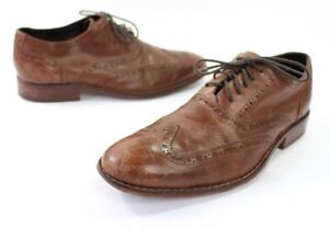 Cole Haan Air Colton Mens Size 9M Wing Tip Oxfords Shoes Distressed ... 019422e8e62
