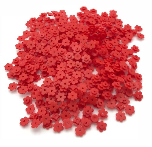 LEGO 100 NEW RED FLOWERS 4 ON SPRUE TOWN CITY GARDEN PIECES