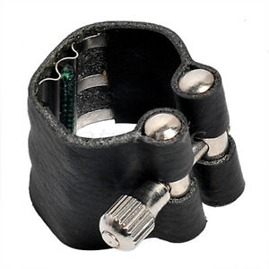 Alto-Saxophone-Ligature-Sax-Accessories-Black-Leather