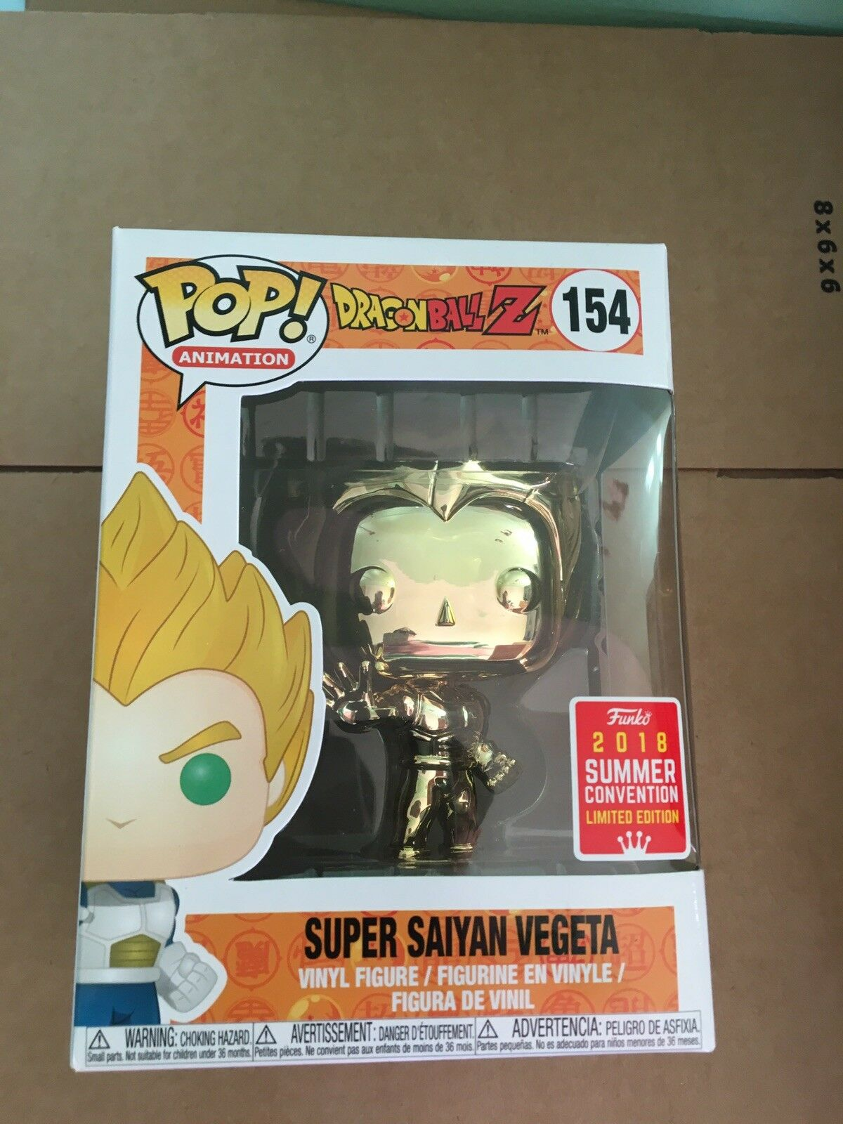Funko POP  Super Saiyan Vegeta Gold Chrome Dragon Ball Z 2018 SDCC Exclusive 4