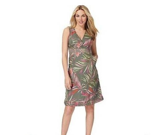 Maine Leaf Embroiderot Wrap Dress Grün Größe UK rrp  DH095 ii 15