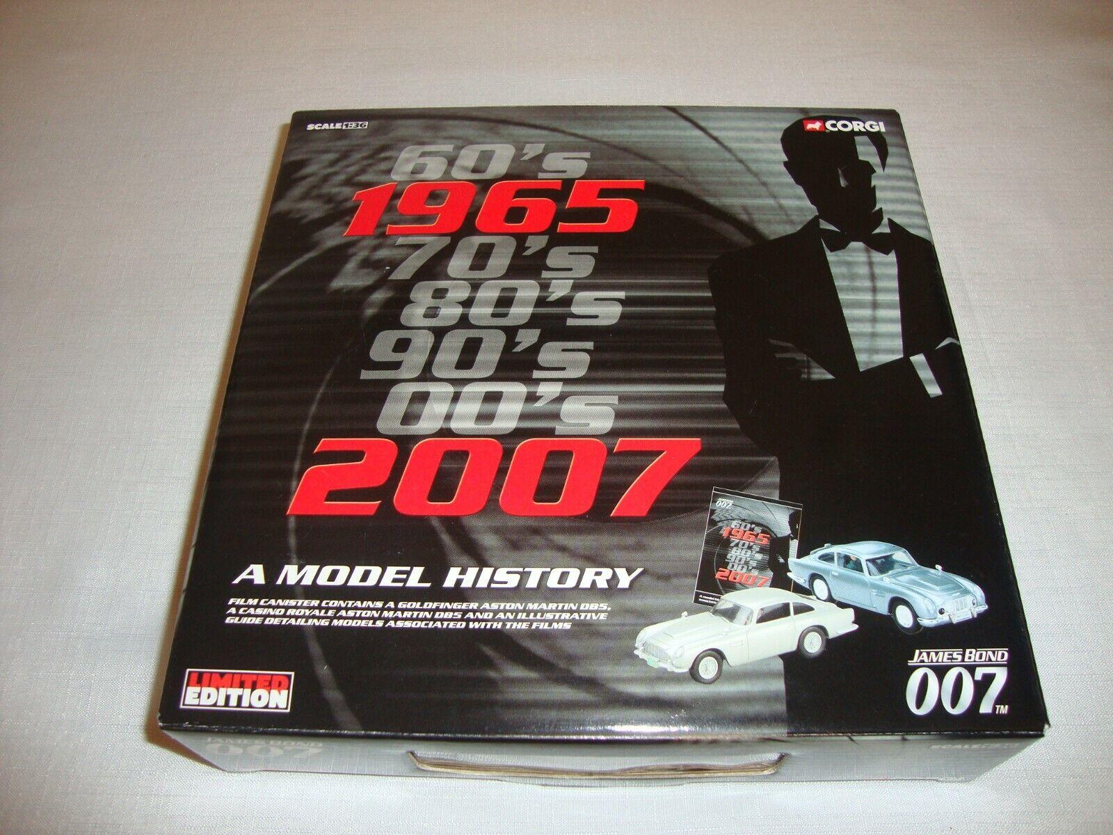 CORGI CC93989 1965 TO 2007 JAMES BOND 007 'A MODEL HISTORY' 2 CAR SET
