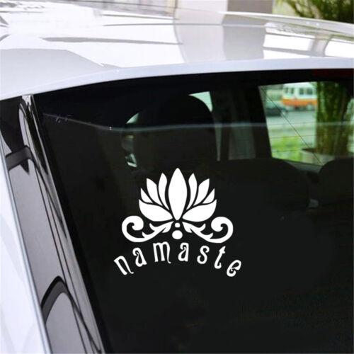 Applique Murale Citation Bouddha Fleur de Lotus Mur Vinyl Autocollant Yoga drôle Art Decor