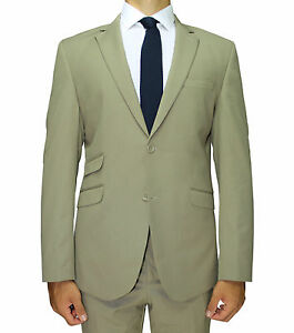CLEARANCE-Khaki-Superior-Suit-with-Double-Pocket-Detail