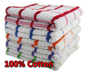 EXTRA LARGE JUMBO TERRY 100/% COTTON MULTI TEA TOWEL KITCHEN DISH CHECK