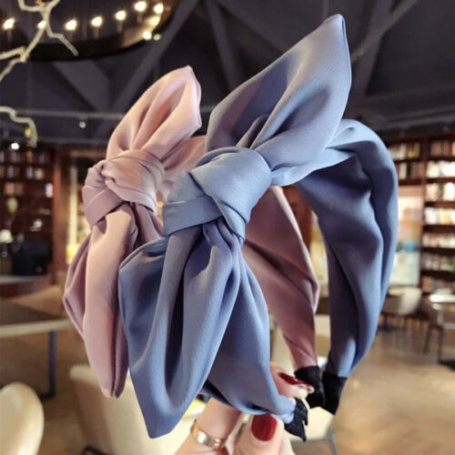 Details about  /Women/'s Tie Rabbit Ear Headband Hairband Wide Knot Head Band Hair Hoop