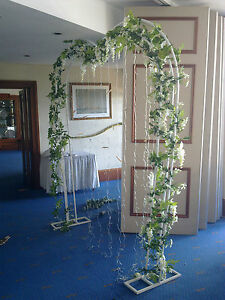 Image Is Loading GARLAND FLOWERS ARTIFICIAL Wisteria Rose Lily WEDDING DECORATIONS