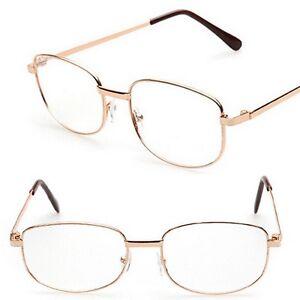 Herren Lesebrille Brille Lesehilfe Damen Leserbrille Metallgestell +1.0 bis +4.0