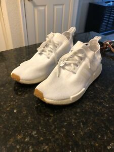 competitive price c2315 489c6 Image is loading adidas-NMD-R1-Gum-Pack-White-Size-11-