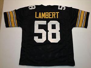 UNSIGNED CUSTOM Sewn Stitched Jack Lambert Black Jersey - M, L, XL, 2XL, 3XL