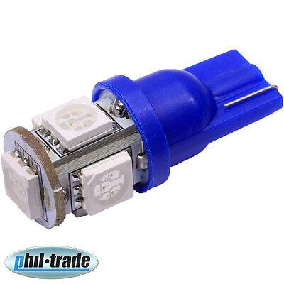 SMD LED T10 w5w Lampe 360° 12V blau hell Innenraum Beleuchtung Tacho Licht