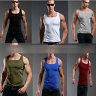 Fad Men's Plain T-Shirts Tank Top Muscle Cami Sleeveless Tees Shirt Cotton Tops
