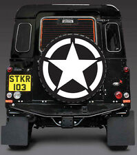 US ARMY/MILITARY STAR DECAL SPARE WHEEL COVER STICKER 4x4