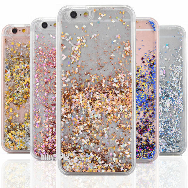 Liquid Glitter Chic Sparkle Bling Moving Quicksand Case for iPhone 7 6 Plus 5 SE