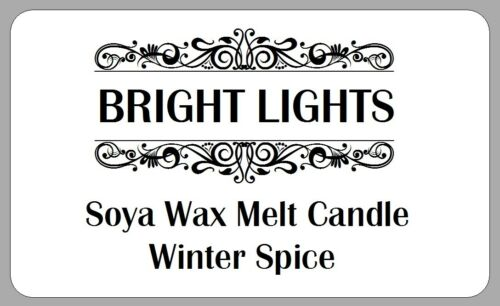 HANDMADE SOYA WAX CANDLE STICKERS HOMEMADE LABELS GIFTS SELLERS PERSONALISED