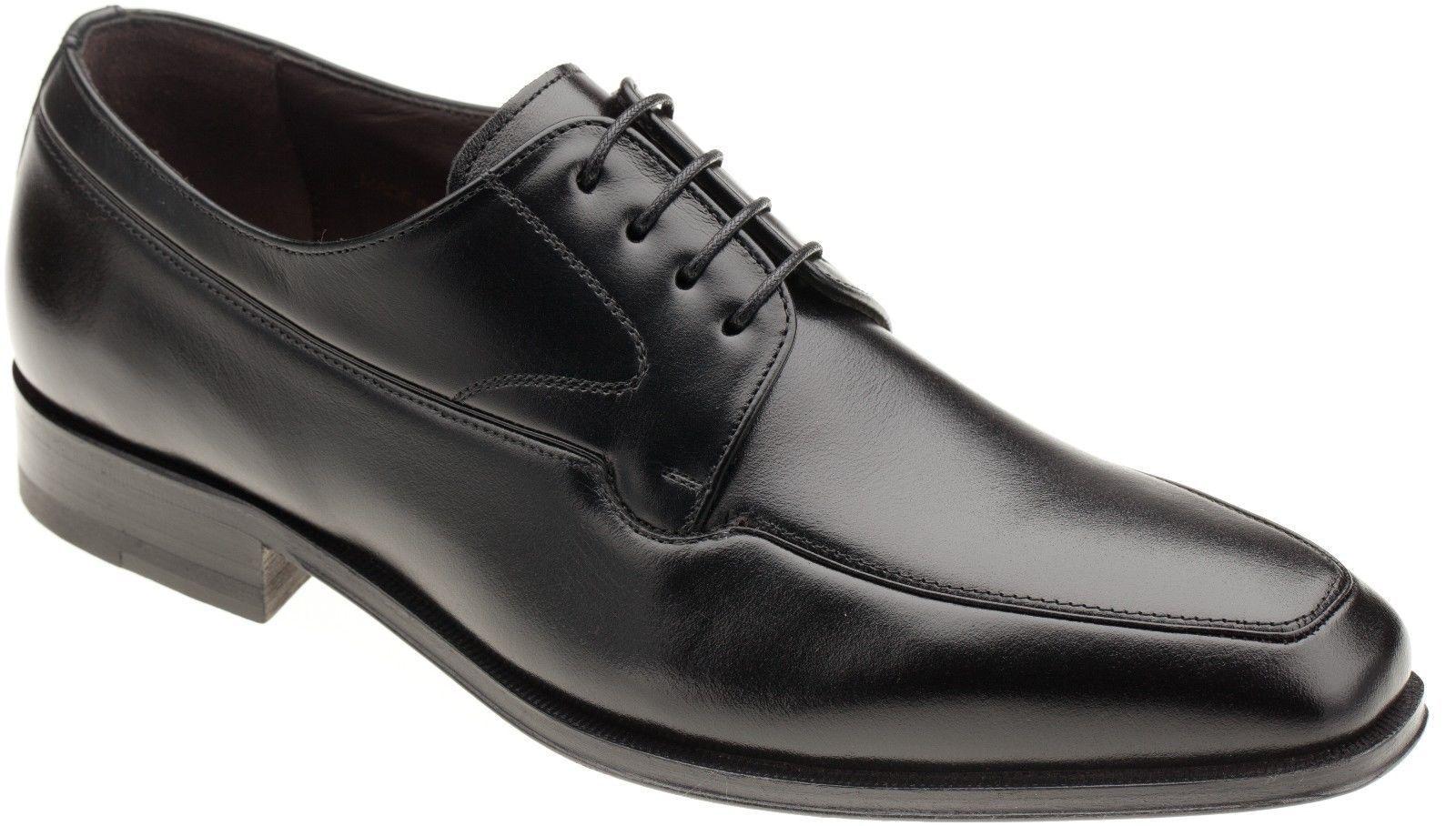Mezlan Hombre Cuero Negro 15673 Delantal Toe Oxford De Vestir Zapatos Con Cordones.