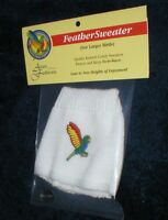 Avian Fashions White Feather Sweaters Birds Parrots Jumpers Warm In Cold Sale