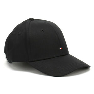 Image is loading Tommy-Hilfiger-Unisex-Baseball-Hat-Flag-Black-Classic- 456e9de2724