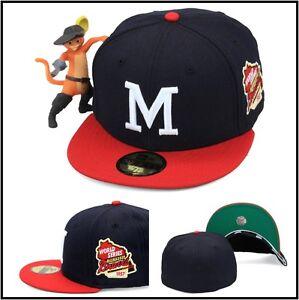 New Era Milwaukee Braves Fitted Hat Cap 1957 World Series Side ... bbaee9196c7