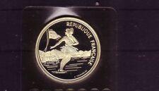 Frankreich 100 FR Eiskunstlauf Silber Albertville 1992 (intern:olymunze:2 )