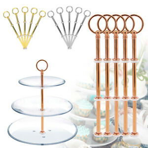 3-Tier-Metal-Cake-Plates-Stand-Fittings-Afternoon-Tea-Wedding-Party-Tableware-x5