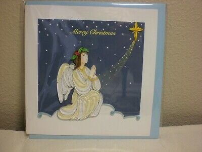 QUL-0910 Quilling Card 3-D Greeting Card ANGEL