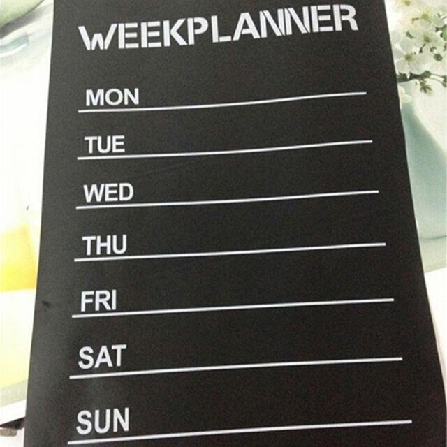 Week Planner Chalkboard Vinyl Stickers Office Living Room Decoration Note Label