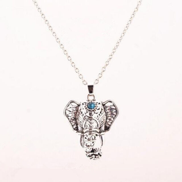 Ethnic Elephant Necklace Chain Antique Boho Choker Turquoise Necklaces Pendants