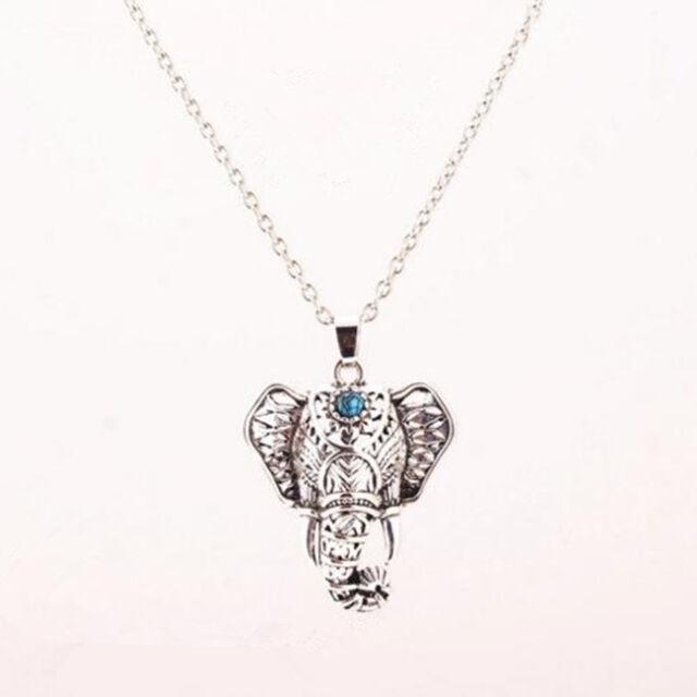 Ethnic Elephant Necklace Chain Antique Boho Choker Turquoise Necklaces Pendants