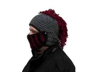 Roman Helmet Winter Hat Handmade Knight Hat Knight Beanie Mohawk Hat ... 5384d0b5c24