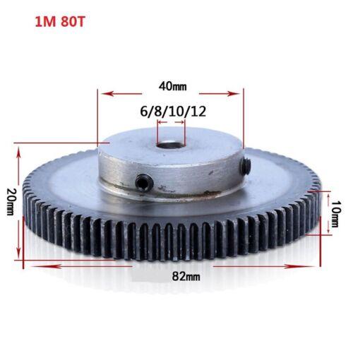High Precision 1 Module 10T-150T Spur Gear Pinion Transmission Gear 45# Steel