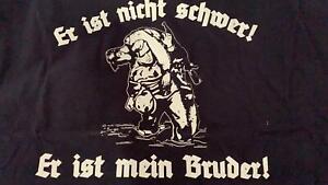 RAUSVERKAUF-Er-ist-nicht-schwer-Er-ist-mein-Bruder-Soldat-T-Shirt-M-Farbe-navy