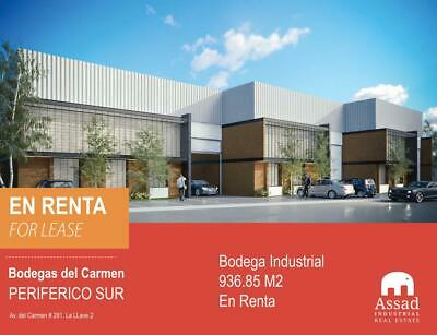BODEGA EN RENTA PERIFERICO SUR / INDUSTRIAL WAREHOUSE FOR LEASE SOUTH PERIFERICO 936 M2 EN  GRUNP...