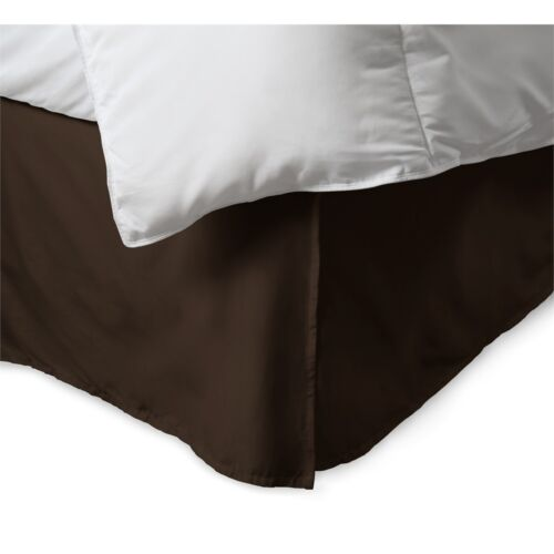 "14/"" Drop Bed Ruffle 100/% Microfiber Split-Corners Solid Bed Skirt"